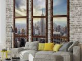 Nyc Lights Wall Mural Wall Mural New York City Skyline Window View Xxl Photo