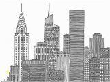 Nyc Skyline Mural for New York City Skyline Black and White Illustration