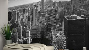 Nyc Skyline Wall Mural New York City Skyline Black White Wallpaper Wall Mural