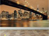 Nyc Skyline Wall Mural Wall Mural New York Skyline Self Adhesive Matte Fabric Mural