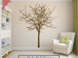 Oak Tree Wall Mural Maple Tree Decal Free Shipping Rustic withered Bare Autumn
