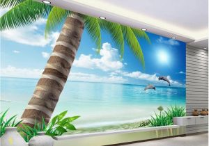 Ocean Beach Wall Murals Us $12 6 Off Palm Beach Scenery Tv Backdrop Landscape Wallpaper Murals 3d Mural Designs Home Decoration In Wallpapers From Home Improvement On