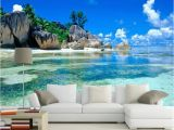 Ocean Murals Wall Decor Custom Ceiling Mural Wallpaper 3d Blue Sky and White Clouds Living