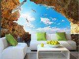 Ocean View Wall Murals Beach Tropical Wall Mural Custom 3d Wallpaper for Walls