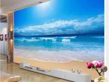 Ocean View Wall Murals Custom 3d Wallpaper Sea View Wall Painting Living Room