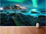 Ocean View Wall Murals Wall Mural Photo Wallpaper Xxl northern Lights Aurora