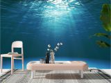 Ocean Wall Mural Wallpaper Details About 3d Dark Blue Ocean Surface Self Adhesive Wall Murals Bedroom Wallpaper Decor