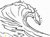 Ocean Waves Coloring Pages Line Free Clipart 128
