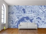 October Memories Wall Mural Custom Map Wall Murals by Wallpapered