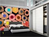 Office Wall Mural Design Colorful Crayons Wall Mural