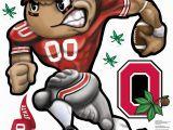 "Ohio State Football Wall Murals the Ohio State Spazz Brutus Spazz Stix 48"" Spazz Monkey"