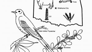 Oklahoma State Flower Coloring Page Oklahoma State Outline Coloring Page Free Worksheets