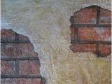 Old Brick Wall Murals Exposed Brick Under Plaster