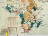 Old Map Wall Mural Vintage Map Of Africa Wall Mural