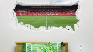 Old Trafford Wall Mural Manchester United Football Club Broken Wall Old Trafford Stadium Wall Mural Bonus Wall Sticker Set