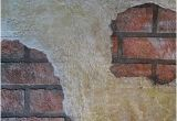 Old West Wall Murals Exposed Brick Under Plaster