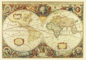 Old World Map Wall Mural Antique World Map Wall Mural