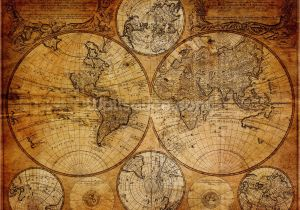 Old World Map Wall Mural Old Globe Map 1746 In 2020