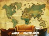 Old World Map Wall Mural Vintage World Map Wallpaper Maps Wallpaper