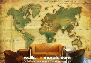 Old World Map Wall Mural Vintage World Map Wallpaper Maps Wallpaper