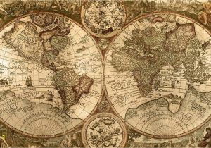 Old World Map Wall Mural Wallpapers for Vintage Map Wallpaper Hd