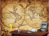 Old World Wall Murals Globe Tan Map World Map Canvas In 2019 Wall Decor