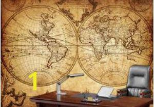Old World Wall Murals Globe Tan Map World Map Canvas In 2019 Wall Decor