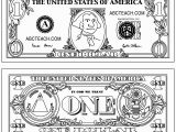 One Dollar Bill Coloring Page 100 Dollar Bill Coloring Page Eskayalitim