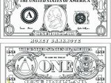 One Dollar Bill Coloring Page Coloring Pages Money Coin Coloring Pages Money Printable Also