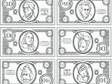 One Dollar Bill Coloring Page Coloring Play Money Coloring Sheets Pages Printable Game for Play