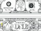 One Dollar Bill Coloring Page Dollar Bill Coloring Page Printable Inspirational Gallery Money