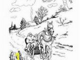 One Horse Open Sleigh Coloring Page Christmas Mandala Coloring Pages Reindeer and Christmas Flower