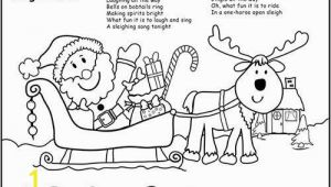 One Horse Open Sleigh Coloring Page Preschool Coloring Pages Elegant Printable Santa Sleigh Coloring