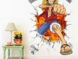 One Piece Wall Murals 3d One Piece Wall Decals Multicolor Monkey D Luffy Wall Vinyl Sticker for Kids Room and Nursery Decoration Wall Art Stickers Uk Wall Art Tree Decal