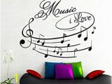 One Piece Wall Murals Amazon Na Giant Wall Decals Music I Love Art Design