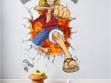 One Piece Wall Murals Us $5 84 Off E Piece Anime Ic Luffy Breack Wall 3d Window Wall Stickers Decals Vinyl Decoration Fashion Decor for Kids Boys Bedroom Art In