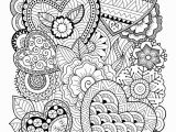 Online Coloring Pages for Adults Zentangle Hearts Coloring Page • Free Printable Ebook