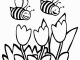 Online Spring Coloring Pages Bees Coloring Page Free Bees Line Coloring