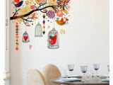 Order Wall Murals Online Wall Art Decor Dl Wall Stickers Branch with Colourful Nature