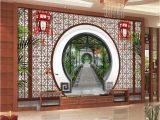 Oriental Garden Wall Mural Find More Wallpapers Information About 3d Wallpaper 3d