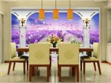 Oriental Garden Wall Mural Großhandel Benutzerdefinierte 3d Fototapete Kunst Wandbild Lavendel Blume Meer 3d Wandbild Tapete 3d Modern Abstract Wall Paper Von Yedandan $22 12
