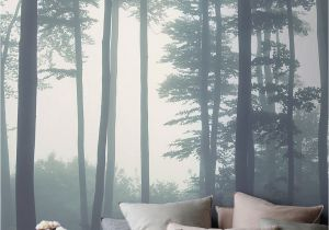 Oriental Wall Murals Uk Sea Of Trees forest Mural Wallpaper