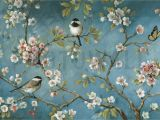 Oriental Wall Murals Uk Vintage Birds Wallpaper orchard Wallpaper In 2019