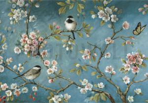 Oriental Wall Murals Uk Vintage Birds Wallpaper orchard Wallpaper In 2019