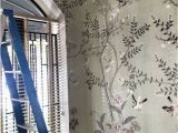 Oriental Wallpaper Murals Chinoiserie Wallpaper oriental Trees Flowering Branch Exotic Birds