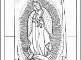 Our Lady Of Guadalupe Coloring Page Lady Guadalupe Coloring Page Juan Diego Tilma