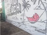 Outdoor Beach Wall Murals Outside the Entryway Picture Of Pig Beach Brooklyn