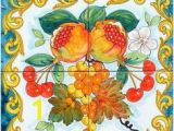 Outdoor Ceramic Tile Murals 29 Best Fruit Tiles Images