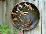 Outdoor Garden Wall Murals Ideas Metal Dragonfly Disc Wall Art Garden Decor Idea Affiliate