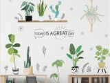 Outdoor Wall Mural Decals Garden Plant Bonsai Flower butterfly Wall Stickers Home Decor Living Room Kitchen Pvc Wall Decals Diy Mural Art Decoration Wall Decals for Baby Girl